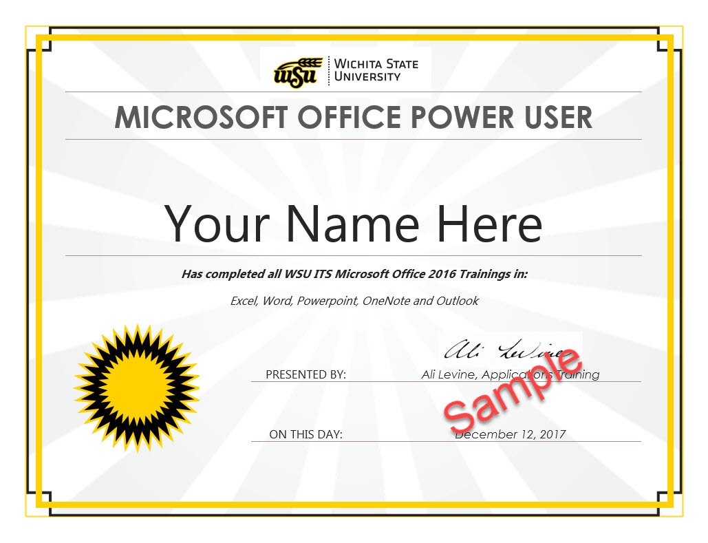 Power User Certificate