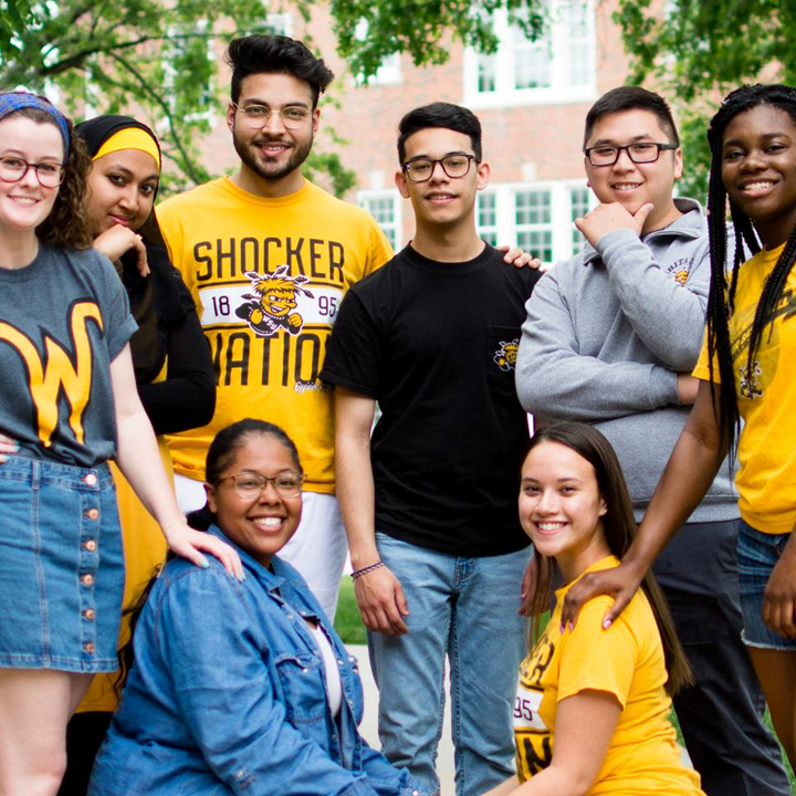 The 2017-18 Ambassadors for Diversity and Inclusion pose on the WSU campus.