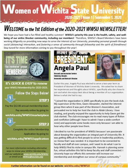 Example of 2020-2021 WWSU Newsletter