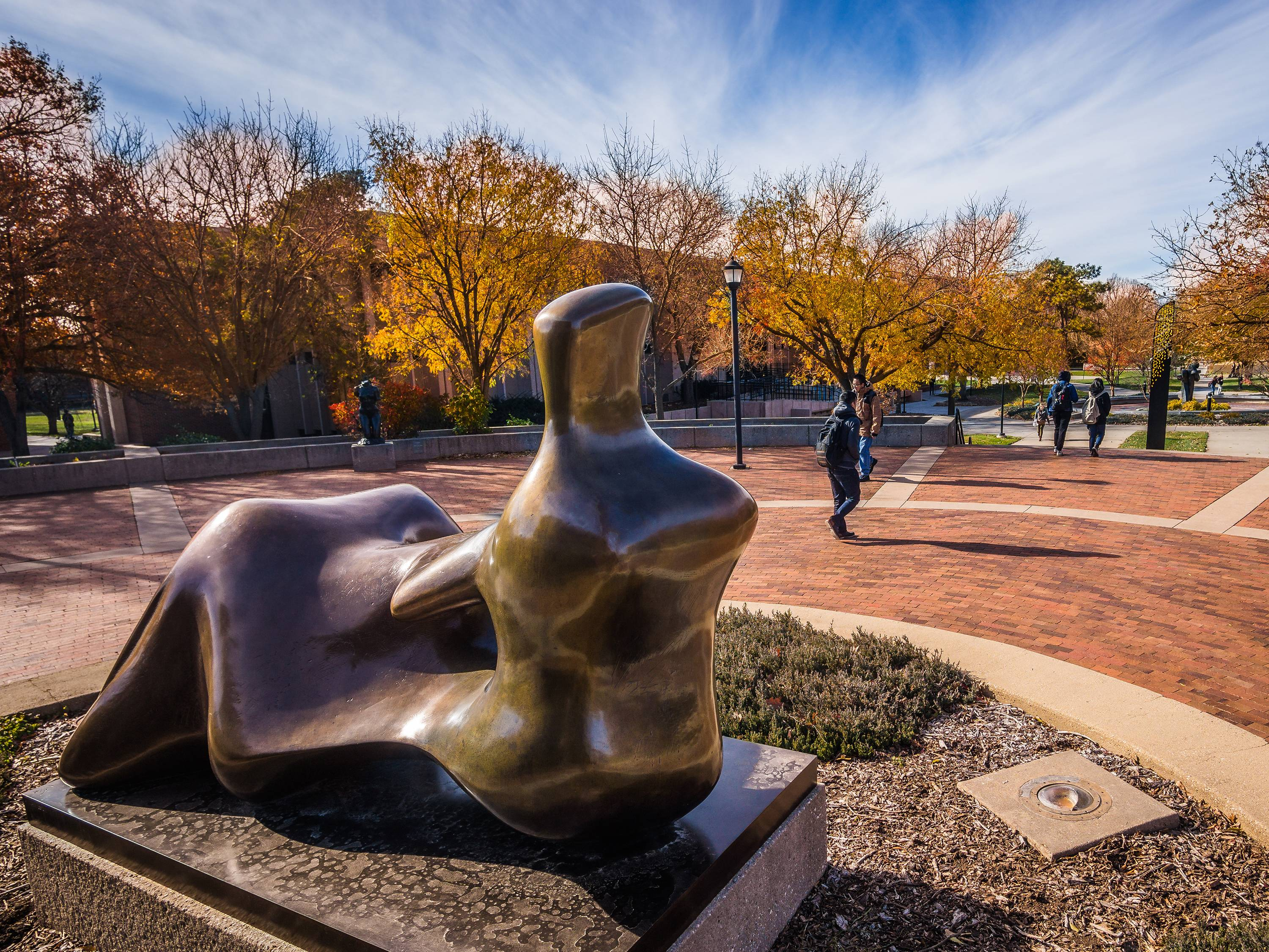 Outside Ablah Library: Reclining Figure (Hand), 1979 by Henry Moore (British, 1898–1986)