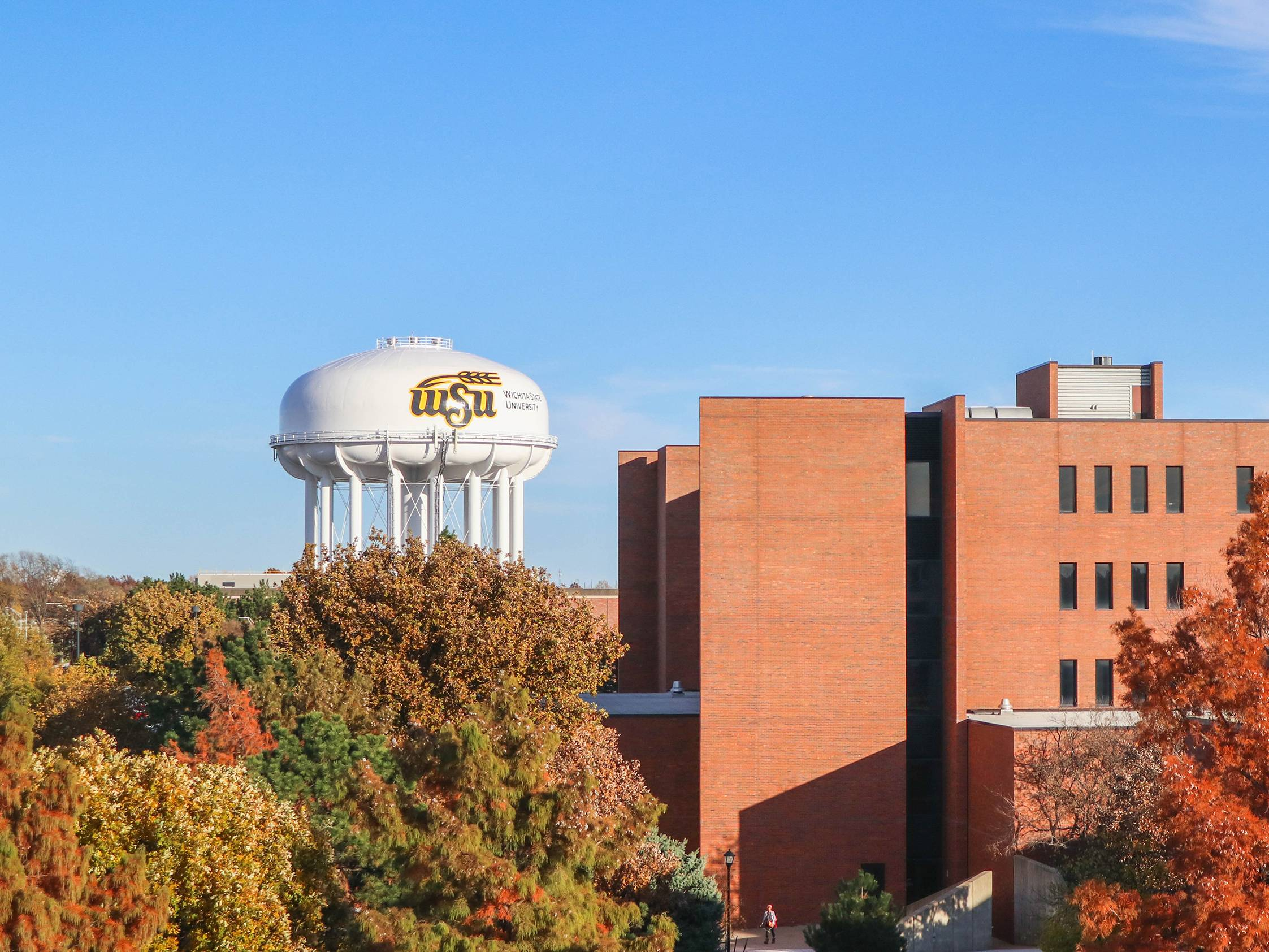 Image of the view of the WSU Watertower