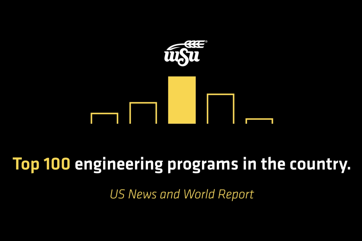 Graphic - Top 100 engineering programs in the country. (U.S. News and World Report).