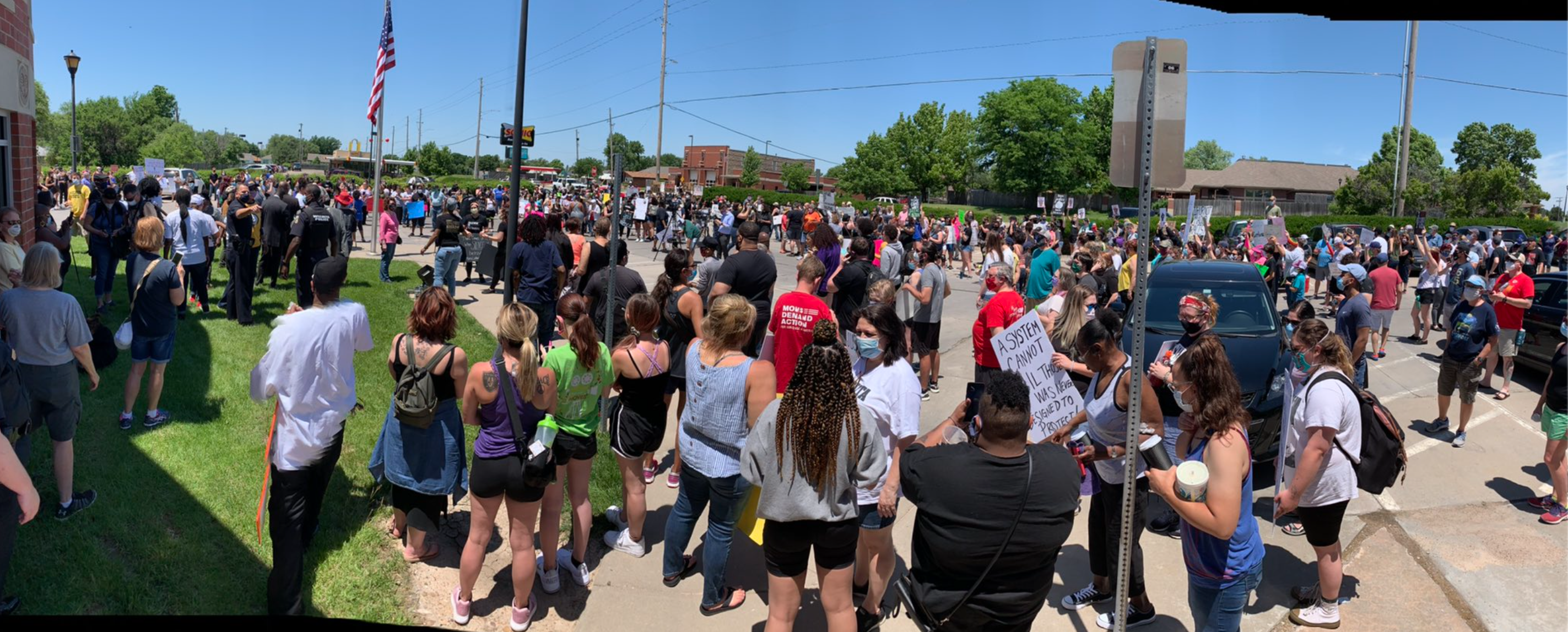 George Floyd protest near the Wichita State University campus.