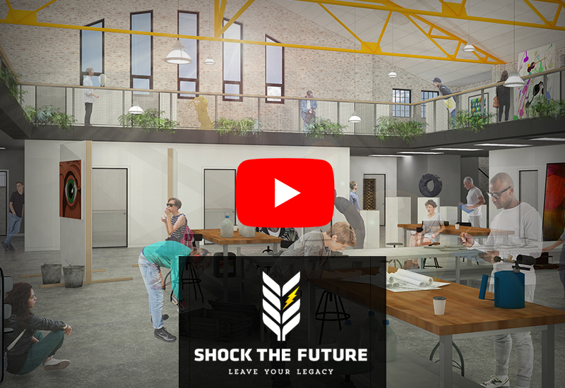 Shock the Future projects video