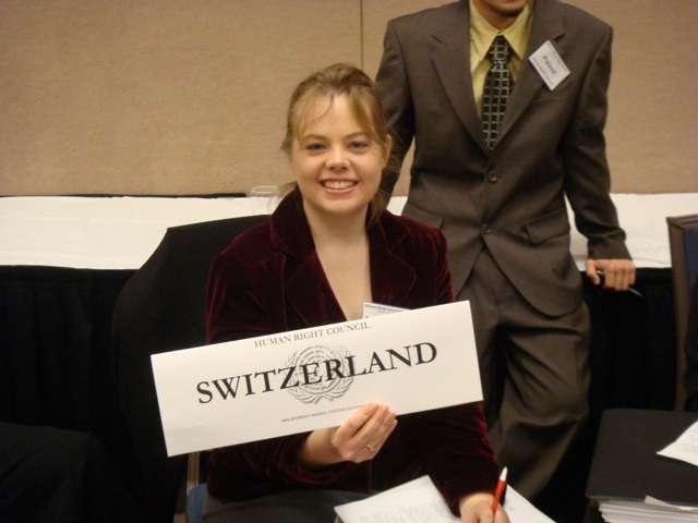 Lizzie Bernhart is one of four WSU students who won an award at the Midwest Model UN Conference.