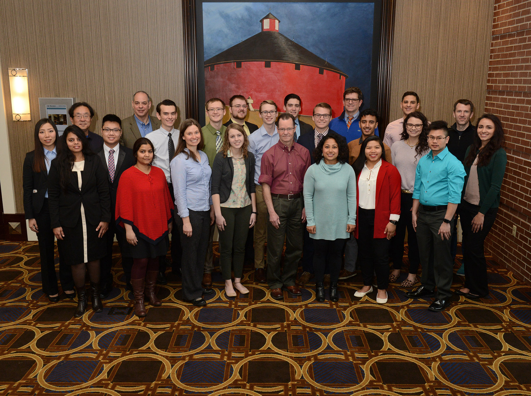 Wichita State student scholars and faculty attendees/presenters at the 16th Annual K-INBRE Symposium, January 13-14, in Overland Park, Kansas.