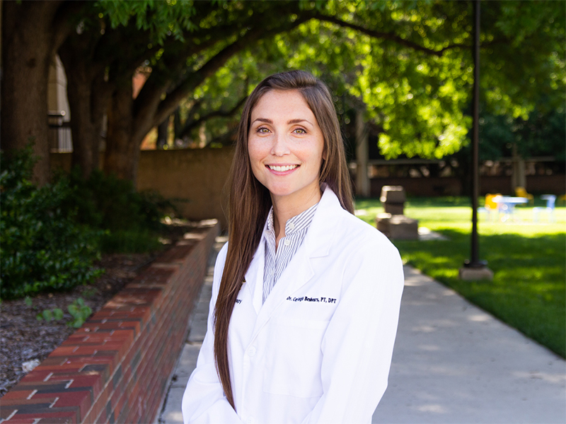 Cayleigh Beshears in her white coat