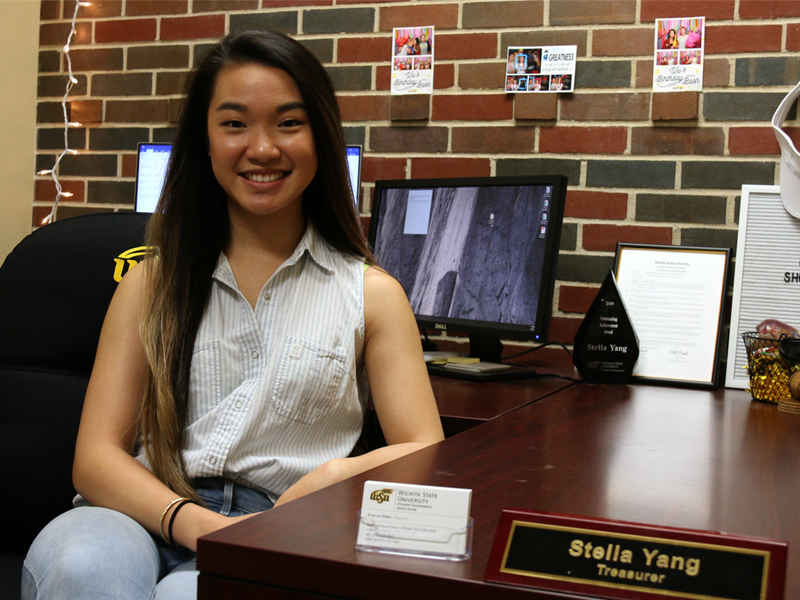 Stella Yang, WSU Student Government Association treasurer during the 2018-2019 academic year
