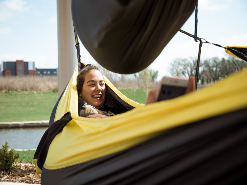 Hammocks on the Wichita State campus