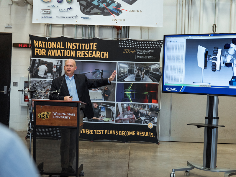 John Tomblin, vice president for technology and research, speaks about NIAR developments