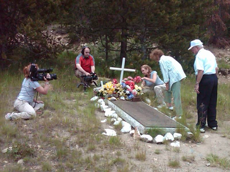 A memorial at milepost 217, near the Eisenhower Tunnel on I-70, is near the site of the 1970 plane crash in Colorado.