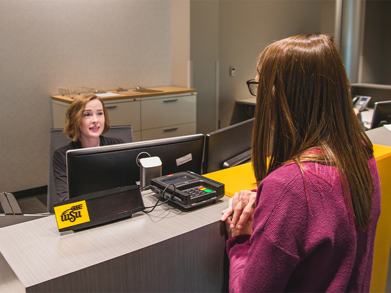 Student Wellness Center front desk