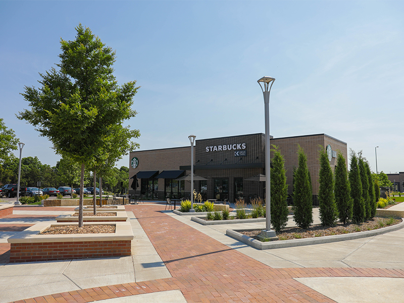 The Starbucks located in Braeburn Square