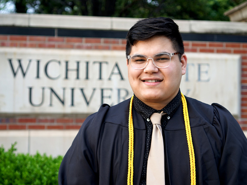Andrew Cruz will graduate with a Bachelor of Business Administration marketing degree and a minor in graphic design.
