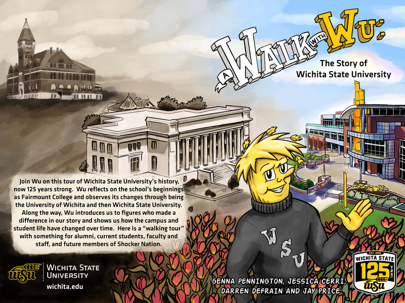 WuShock will be the readers tour guide through Wichita State's history.