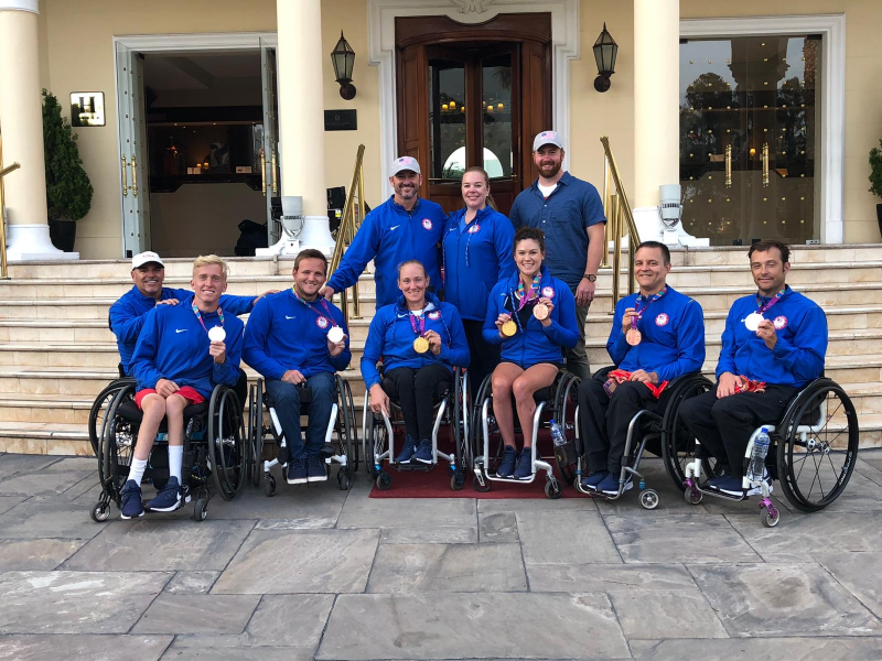 Paralympic wheelchair tennis team