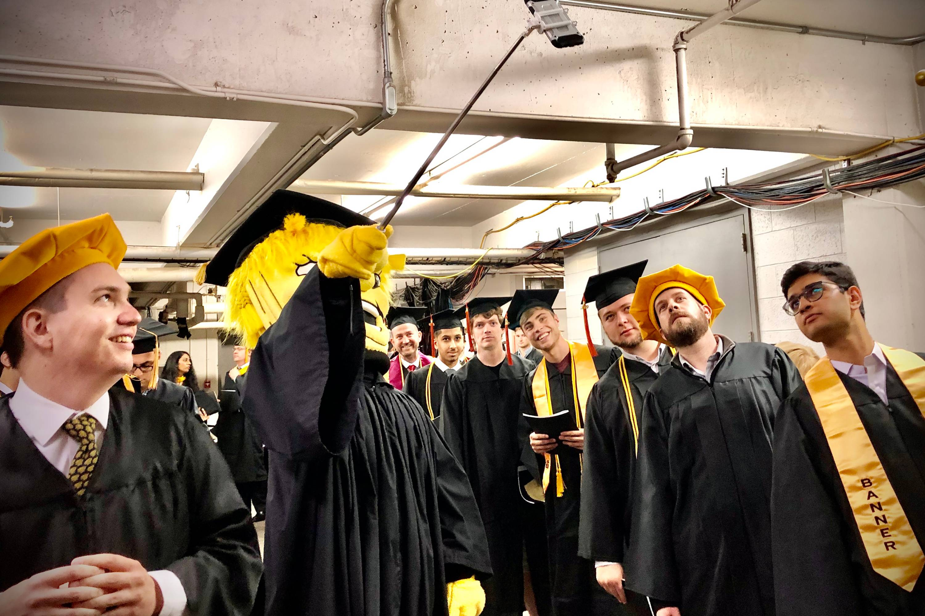 Engineering graduates at commencement