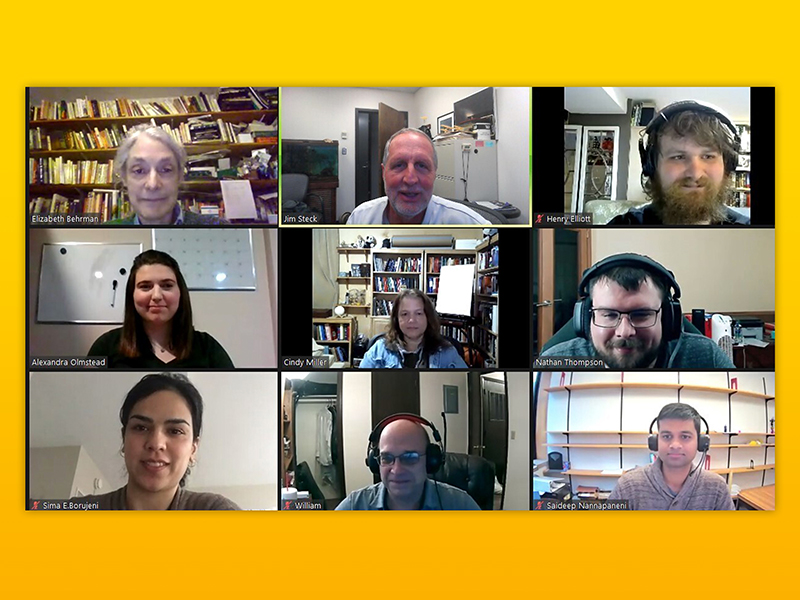 Image of students and faculty attending Zoom meeting