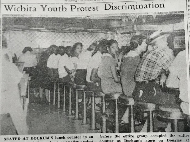 Picture of 1958 sit-in from The Enlightener