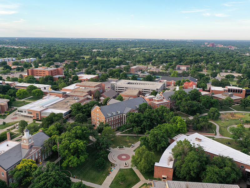 Aerial view of Wichita State