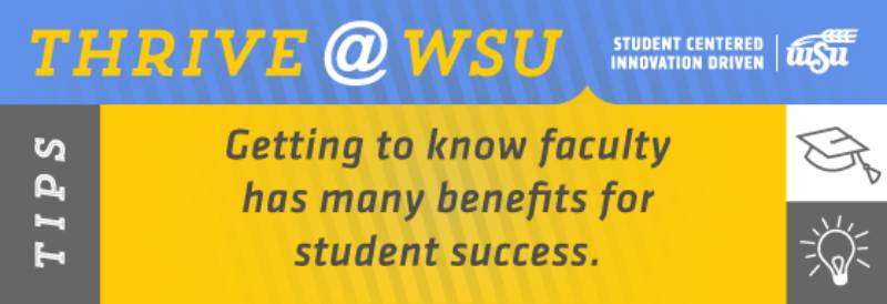 Getting to know faculty has many benefits for student success.