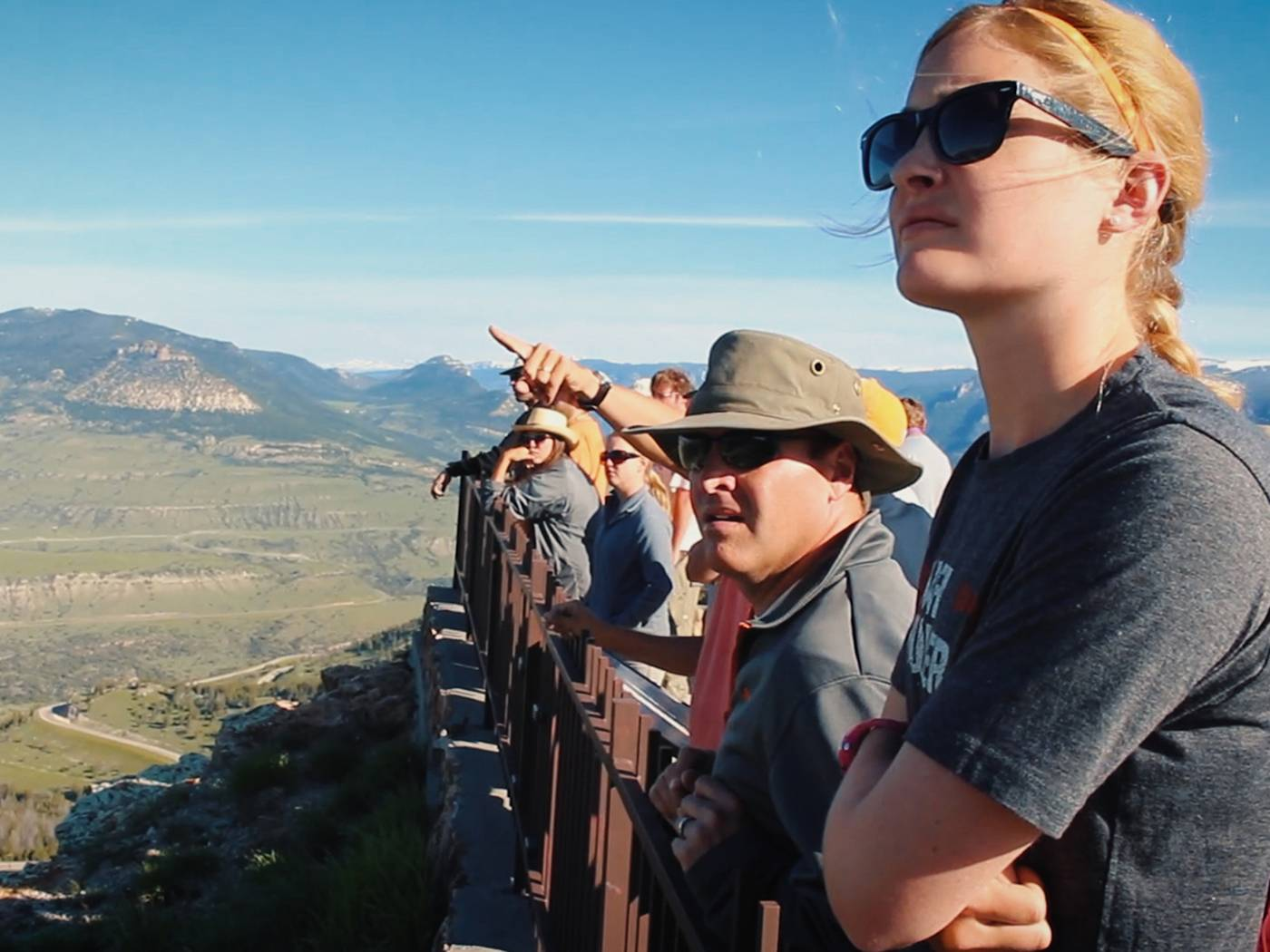 Liberal Arts and Sciences Geology students on a field excursion