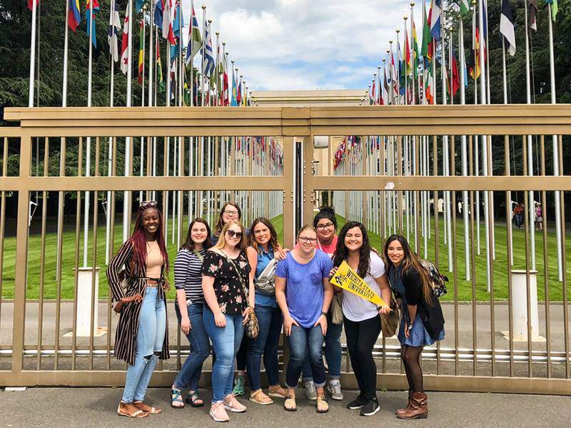 Group of WSU students traveling abroad.