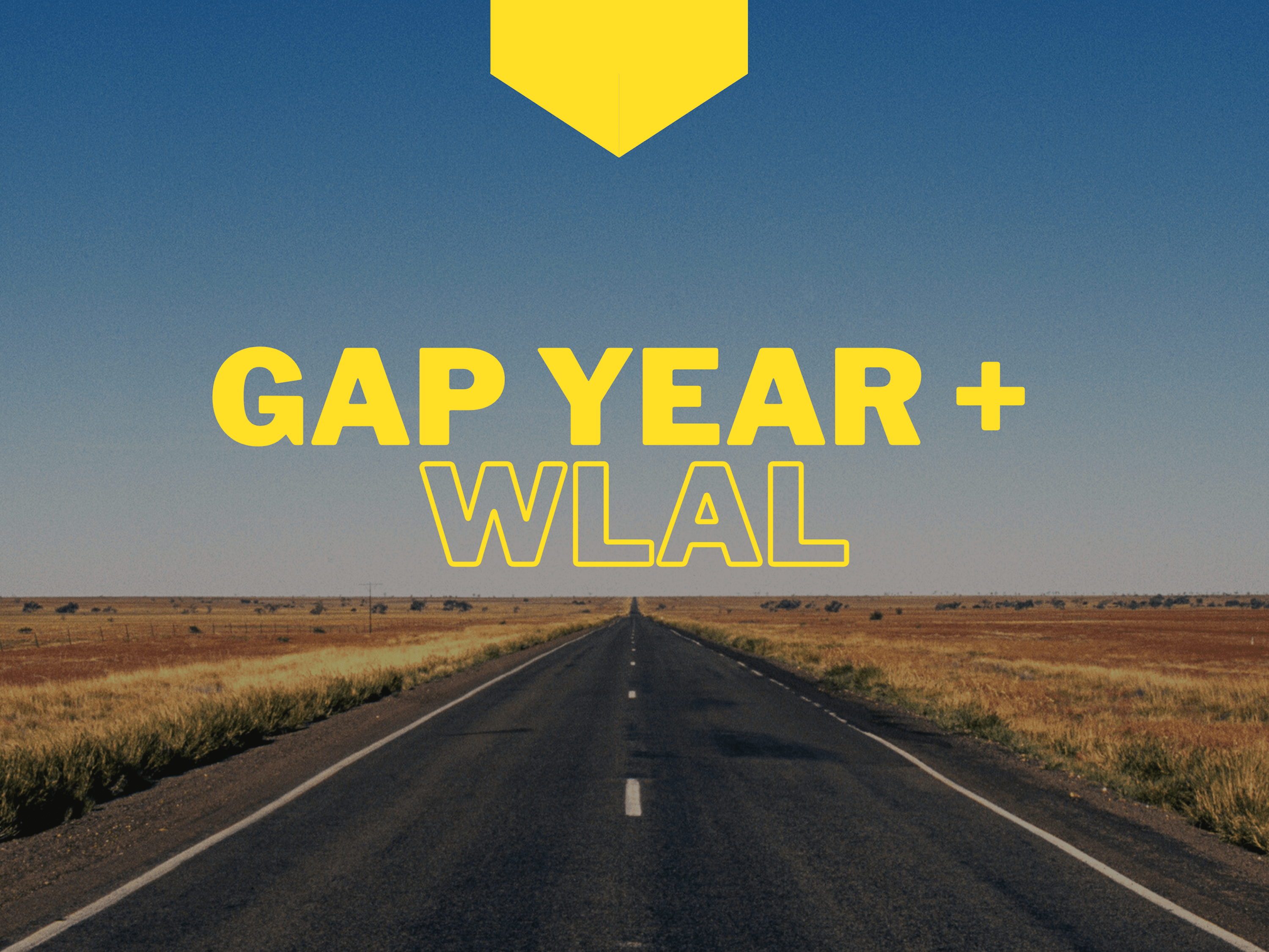 Graphic stating WLAL and gap year