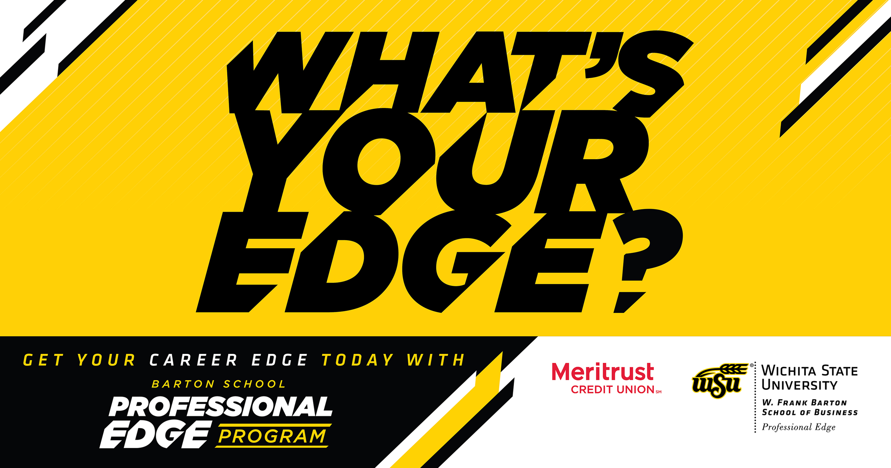 Professional Edge graphic banner: Get your career edge today with the Barton School Professional Edge Program