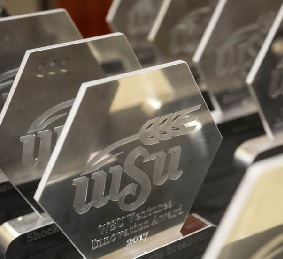 Photo of WSU Engineering Bright Future Awards before being handed out.