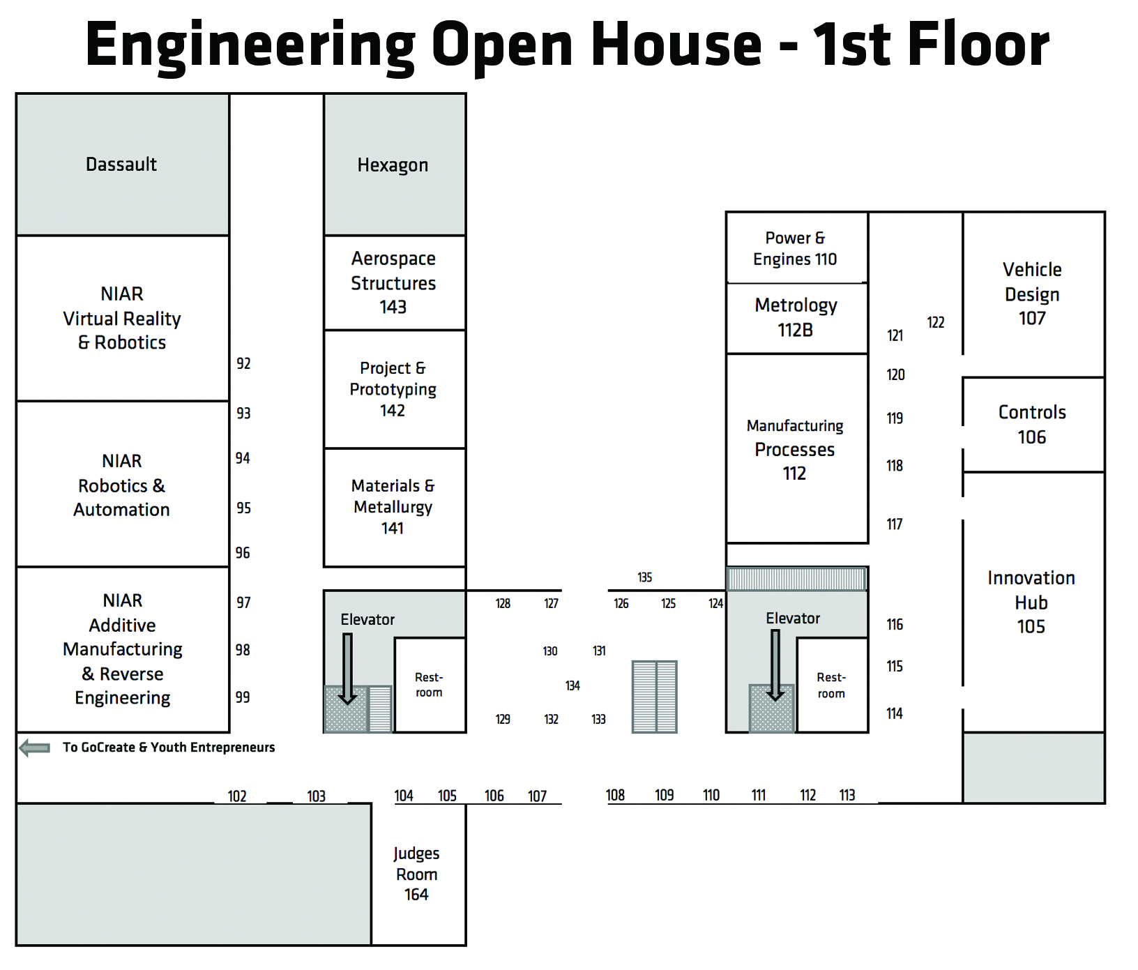 Experiential Engineering Building 1st Floor Map