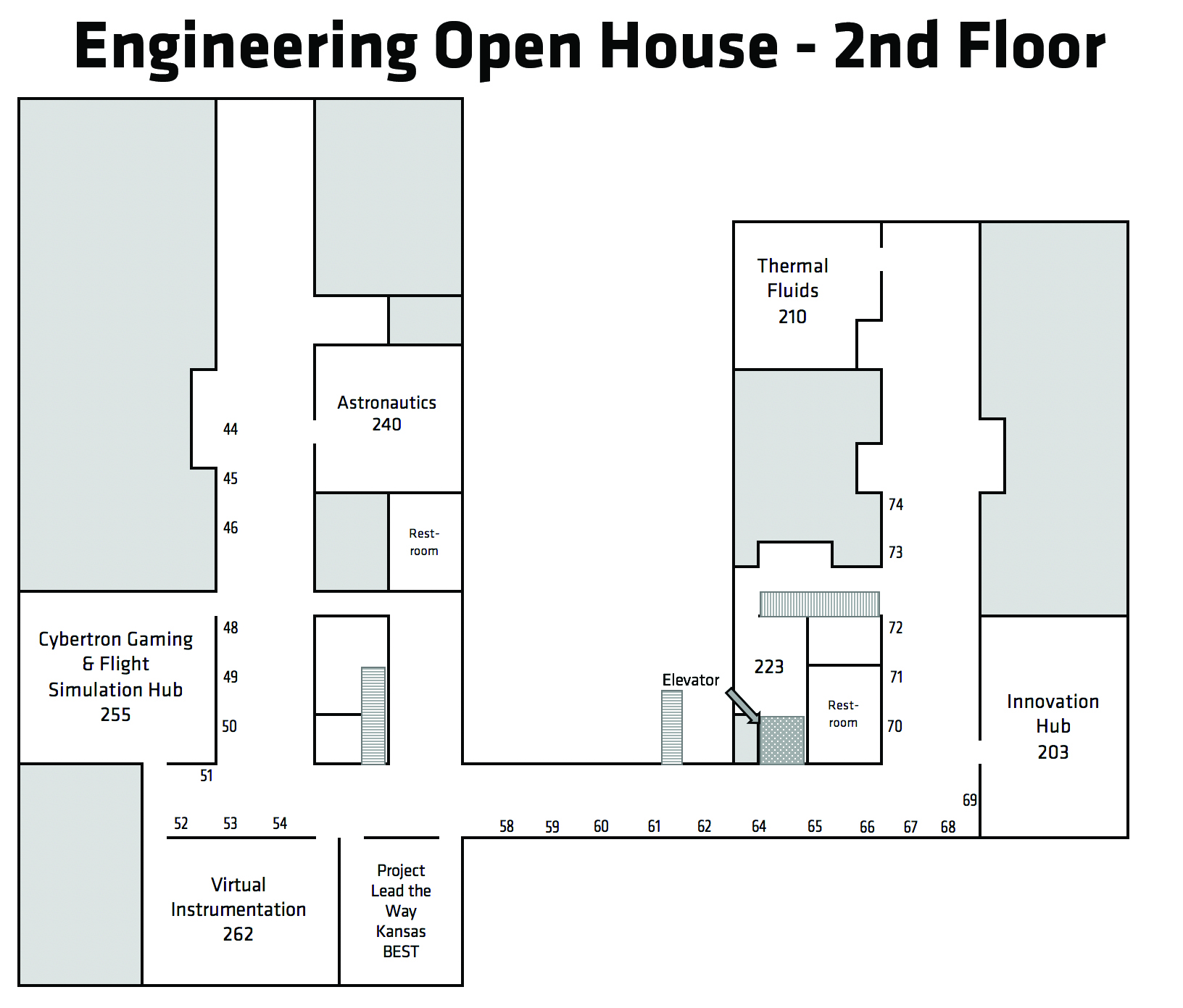 Experiential Engineering Building 2nd Floor Map