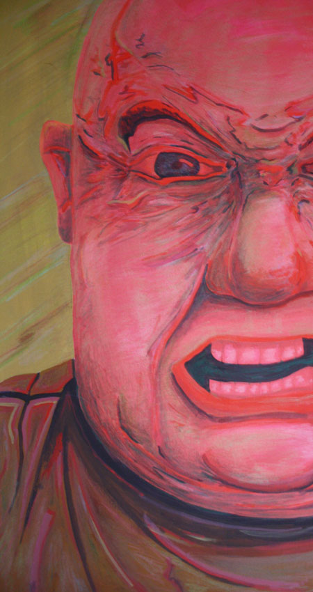 Angry Andy Goache paint and color pencil