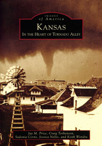 Cover of the book, Kansas: In the Hearat of Tornado Alley.