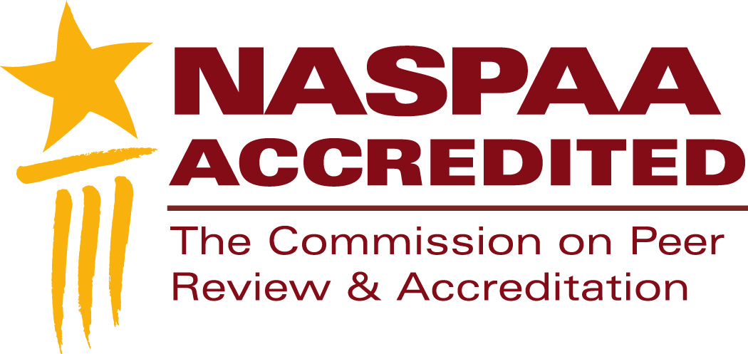 NASPAA Accredited logo graphic.