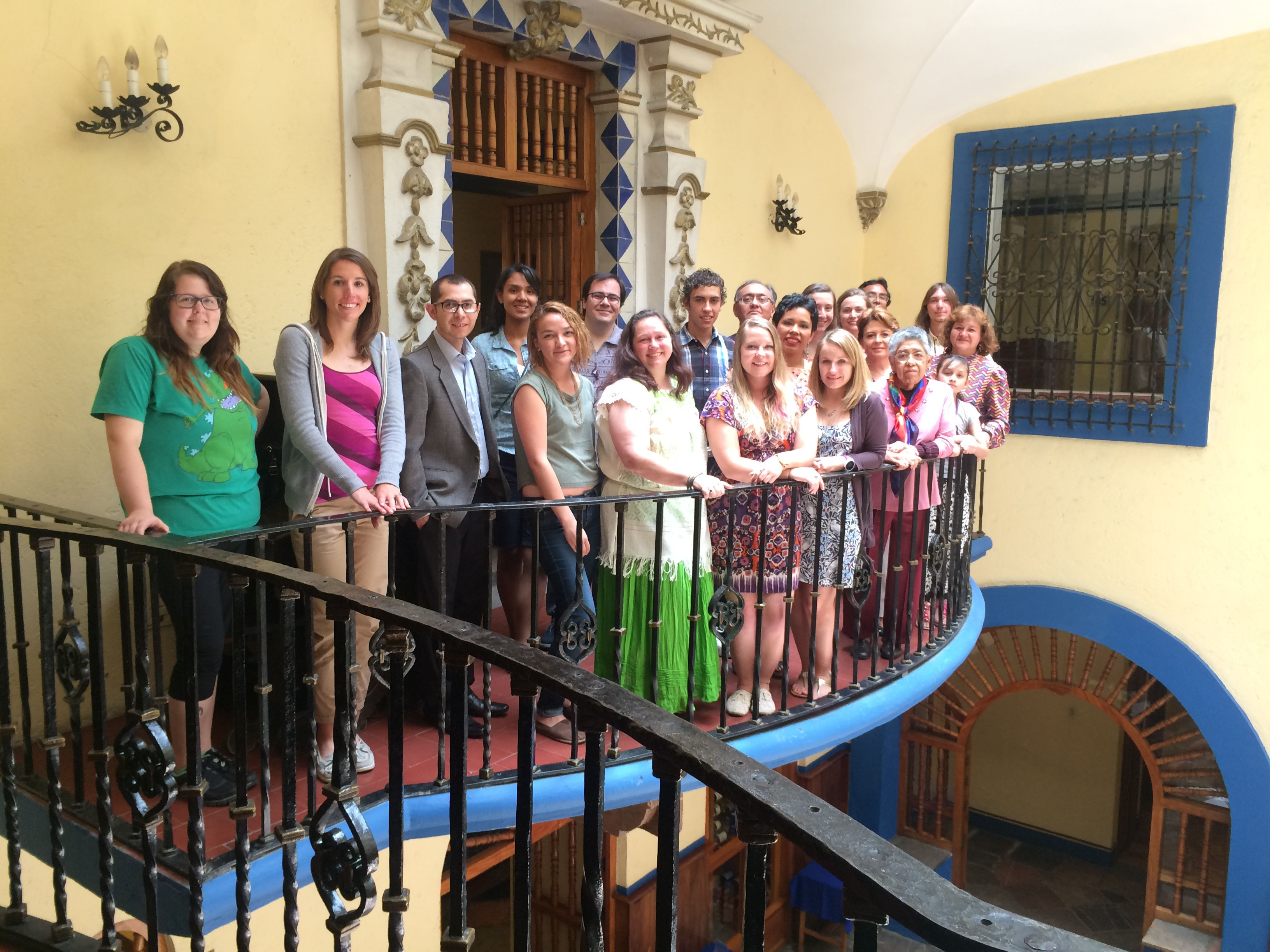 Photo of Puebla Summer Program students.