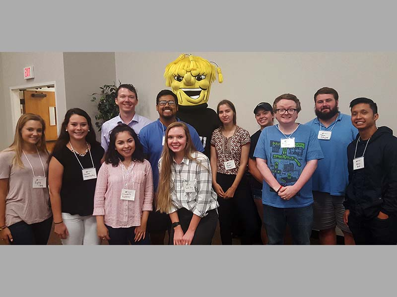 students attend academic resource conference