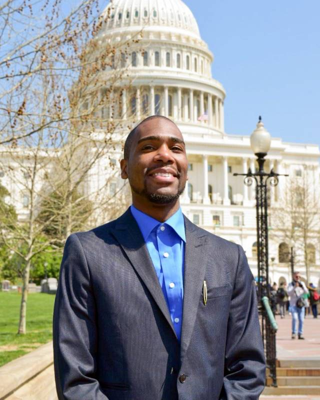 Abdul-Mannaan Giles at the U.S. Capitol