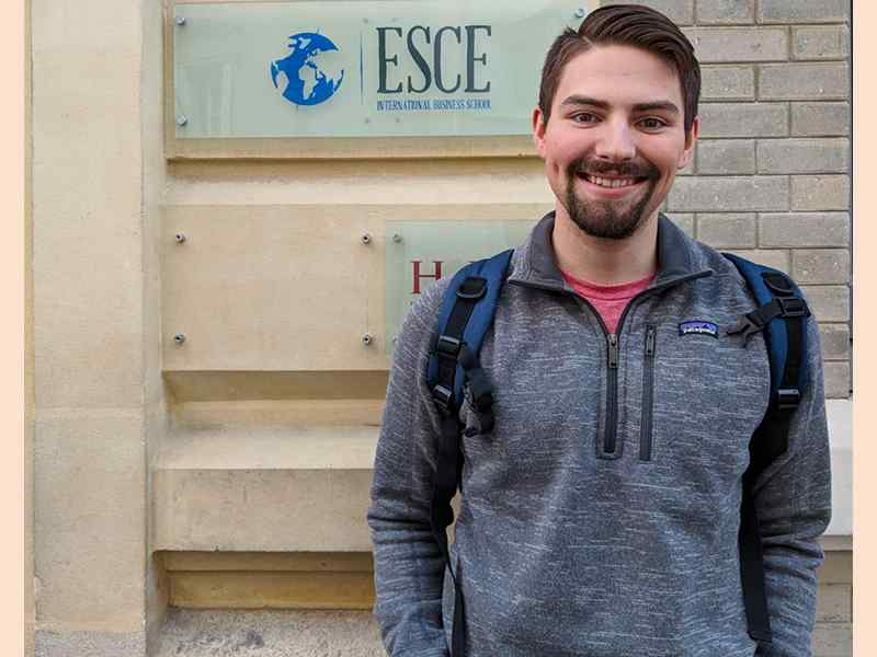 Braden McCall, a business management minor, took advantage of WSU's Study Abroad Program, spending a semester abroad studying at the ESCE International Business School in Paris, France.