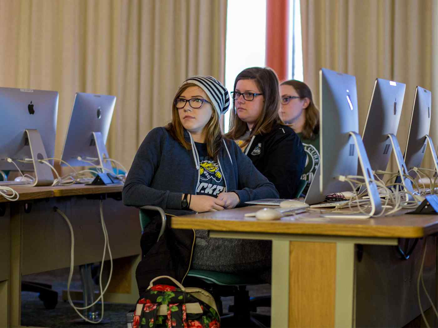 Students in the computer lab.