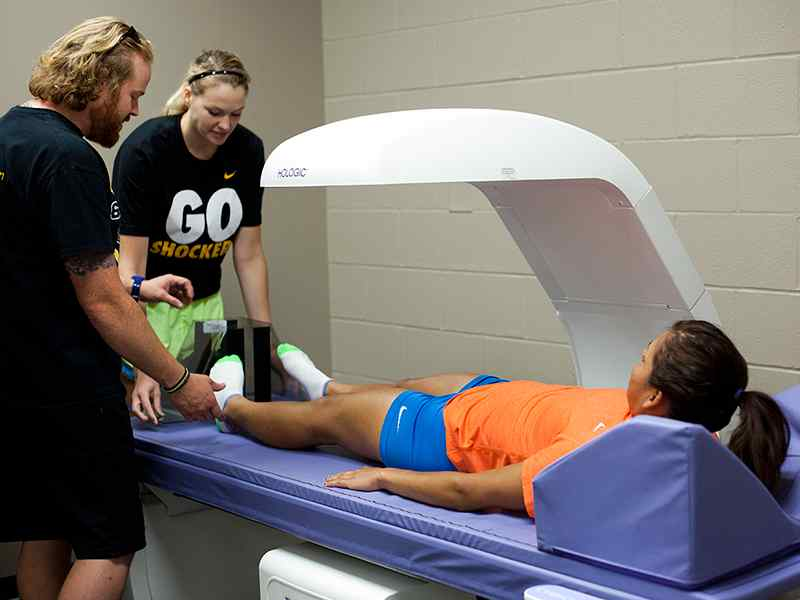 Students work on their athletic training skills.