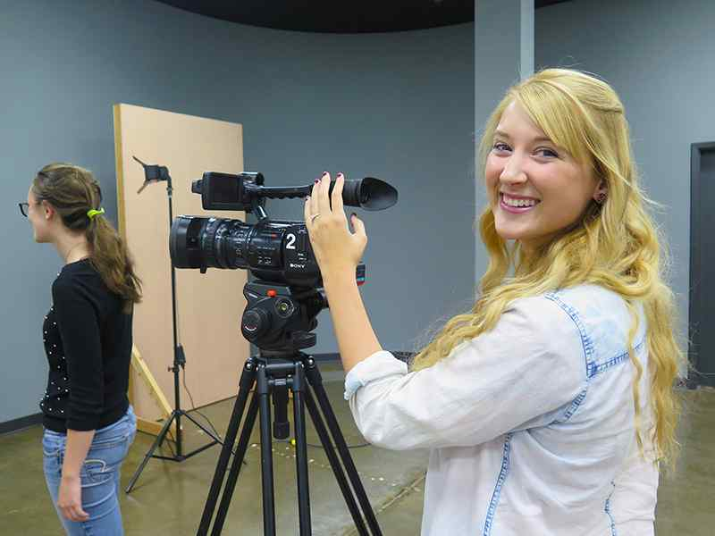 WSU is home to a brand new, state-of-the-art professional production space – Shocker Studios.