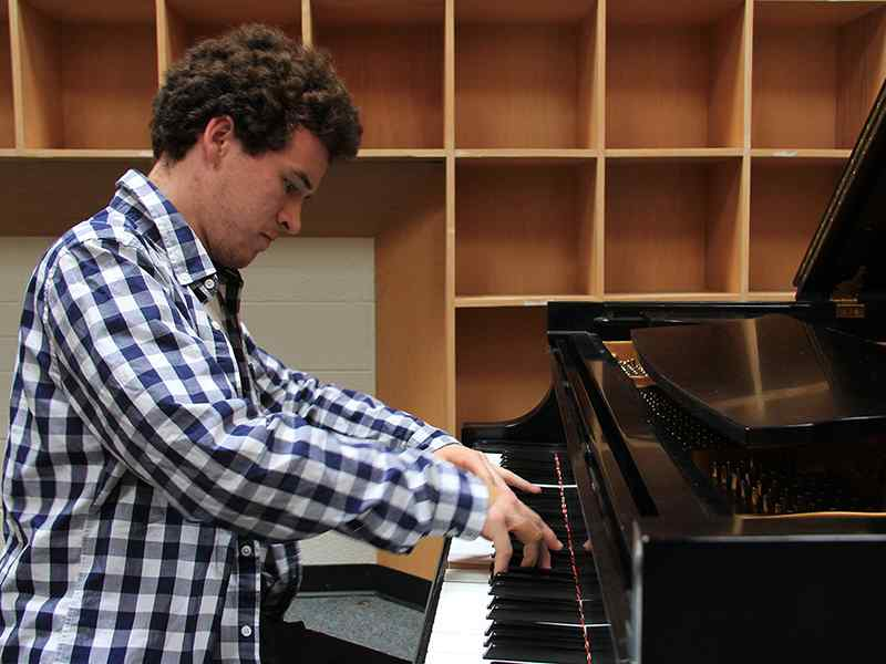 As just a freshman, piano major Patrick Orr won the grand prize in the Kansas City Symphony Young Artist Competition.