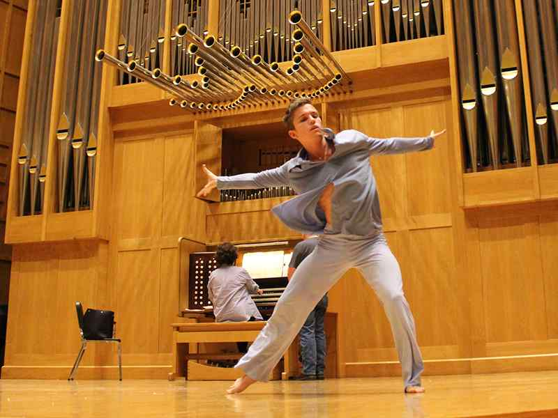 WSU dance student performs in Wiedemann Hall