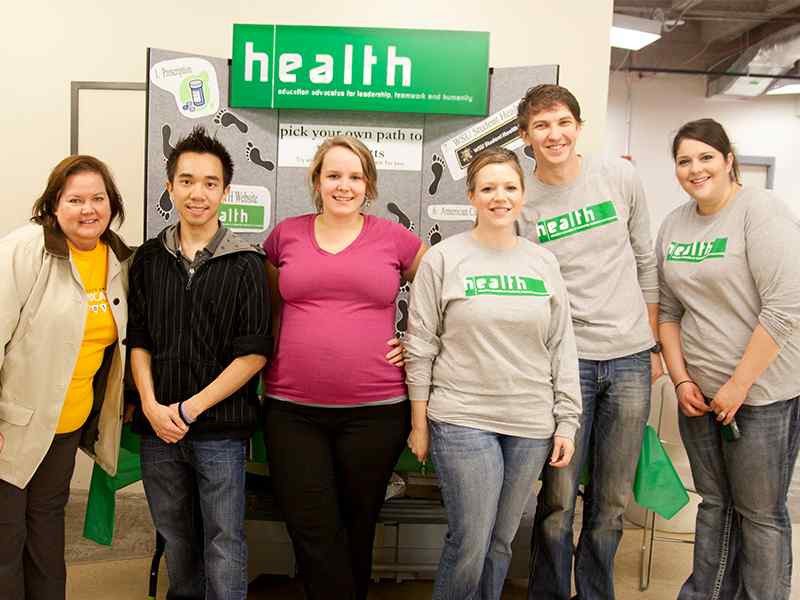 HEALTH students helped implement the Tobacco Free Campus Ambassador program.