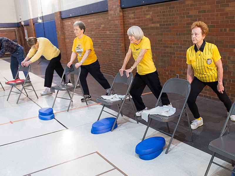 Highly trained graduate, practicum and undergraduate internship students are using their skills to lead exercise classes for older adults in the community.