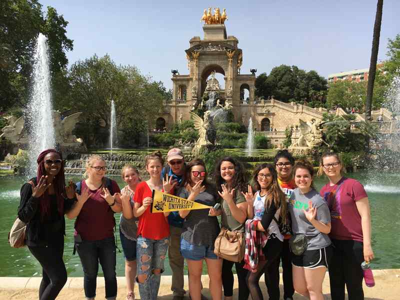 WSU students studying abroad in Spain