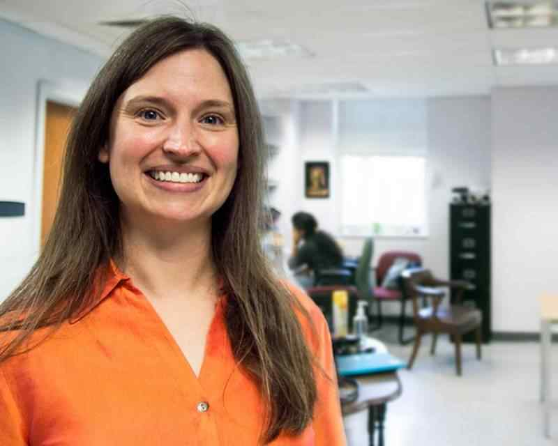Assistant Chemistry Professor Katie Mitchell-Koch is providing valuable opportunities and resources for undergraduate and graduate students helping with her research project.