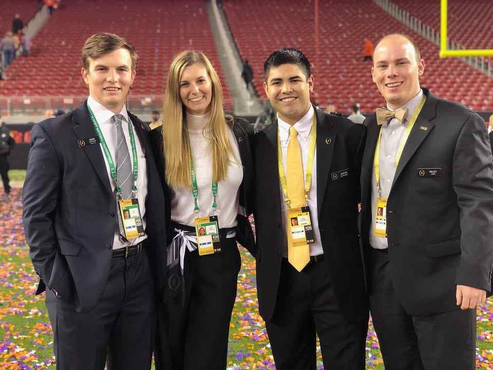 Sport management majors intern at the College Football Playoff hosted at Levi Stadium in Santa Clara, California