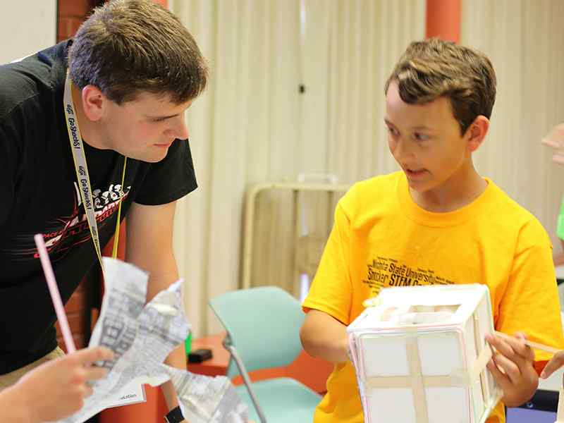Applied Studies students serve as WSU STEM camp staff members